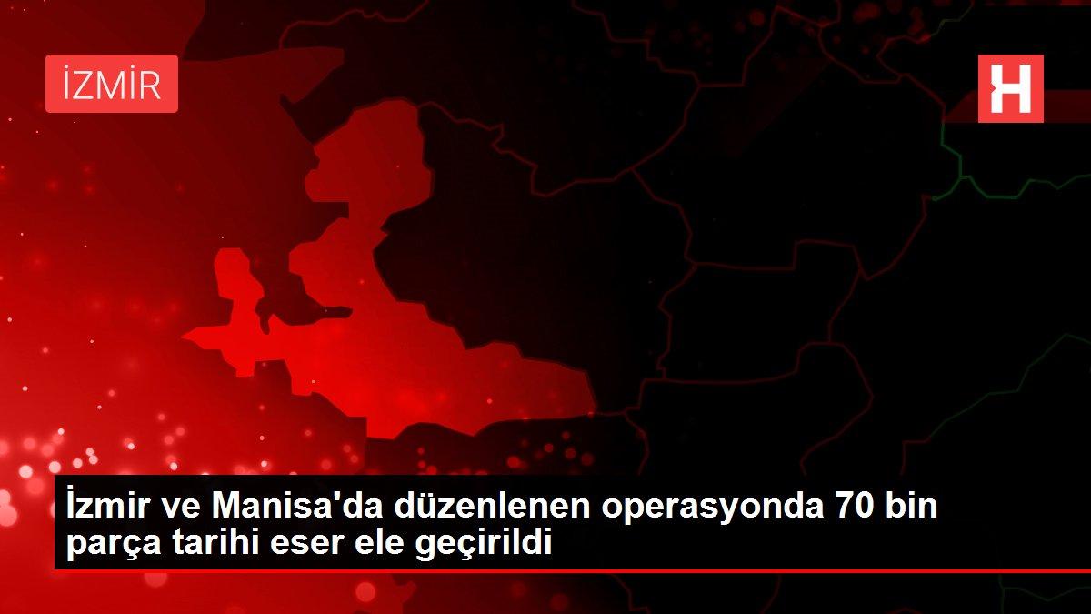Son dakika haber | İzmir ve Manisa'da düzenlenen operasyonda 70 bin parça tarihi eser ele geçirildi