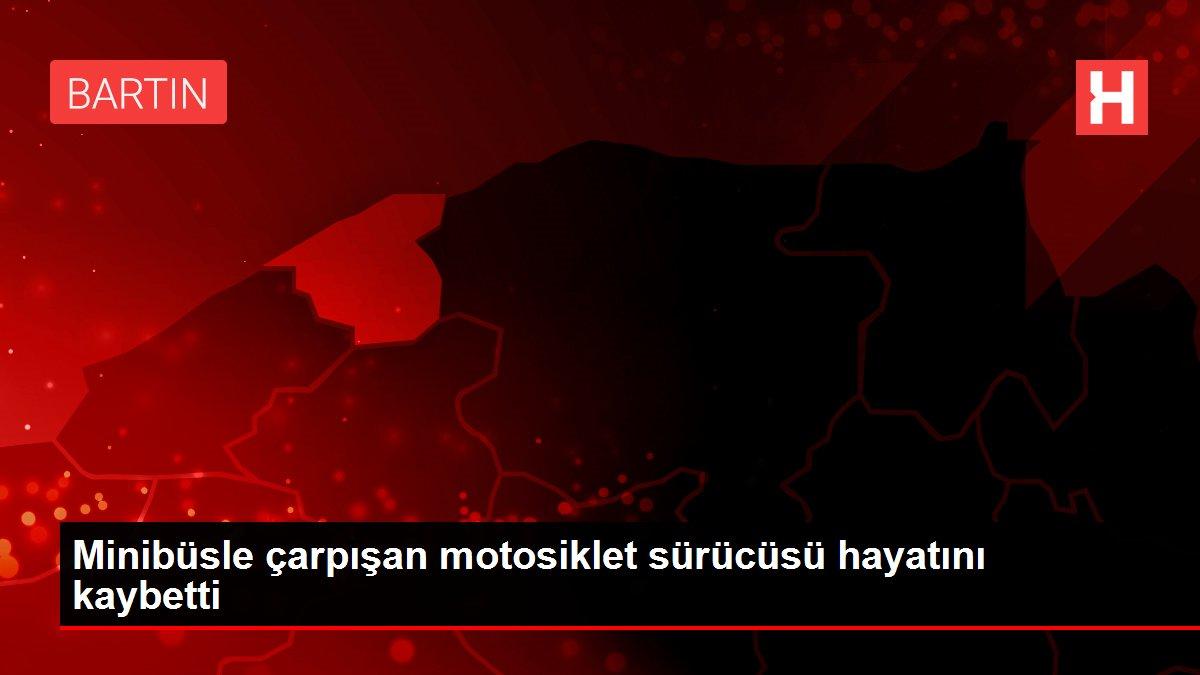 Son dakika! Minibüsle çarpışan motosiklet sürücüsü hayatını kaybetti