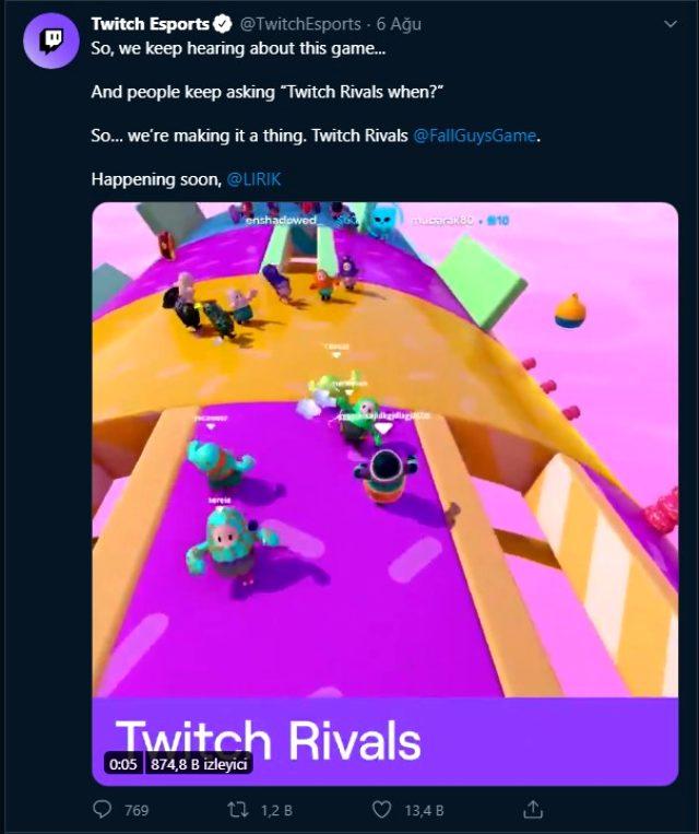Twitch Rivals için yeni turnuva kategorisi: Twitch Rival Fall Guys Ultimate Knockout