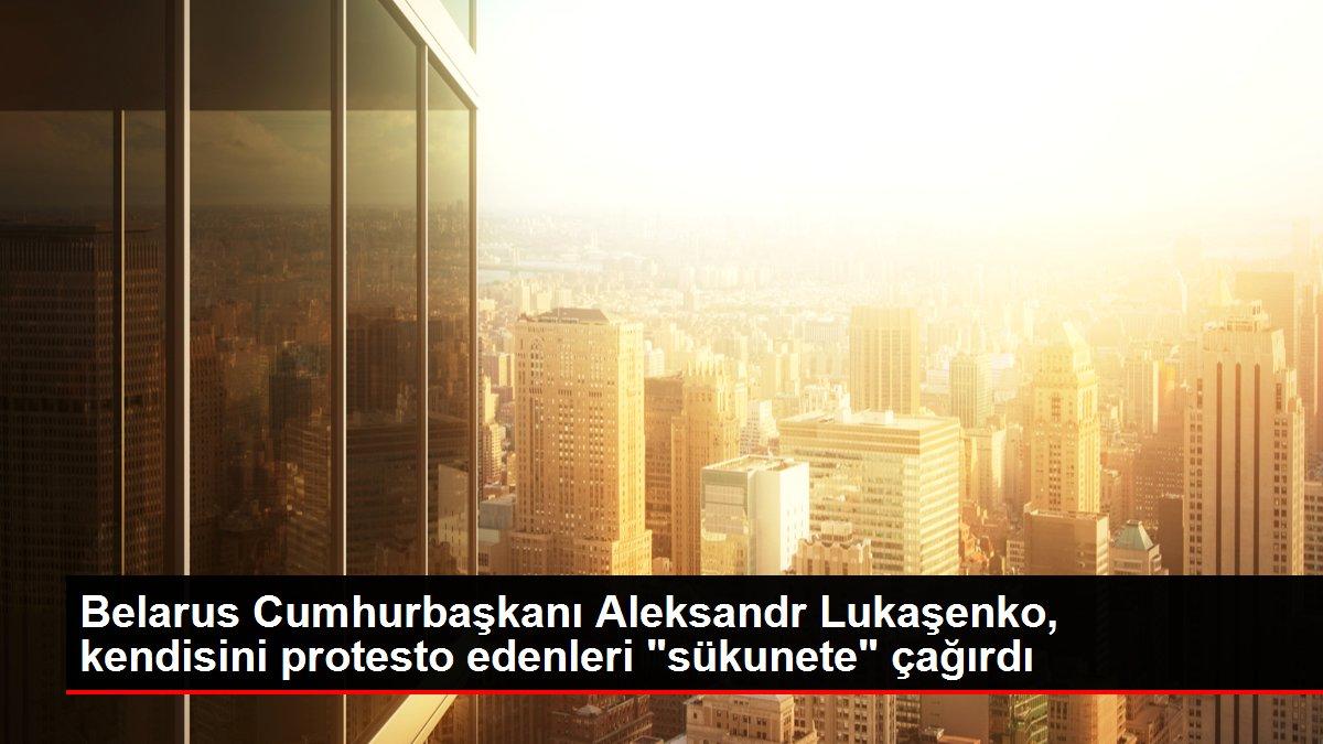 Belarus Cumhurbaşkanı Aleksandr Lukaşenko, kendisini protesto edenleri