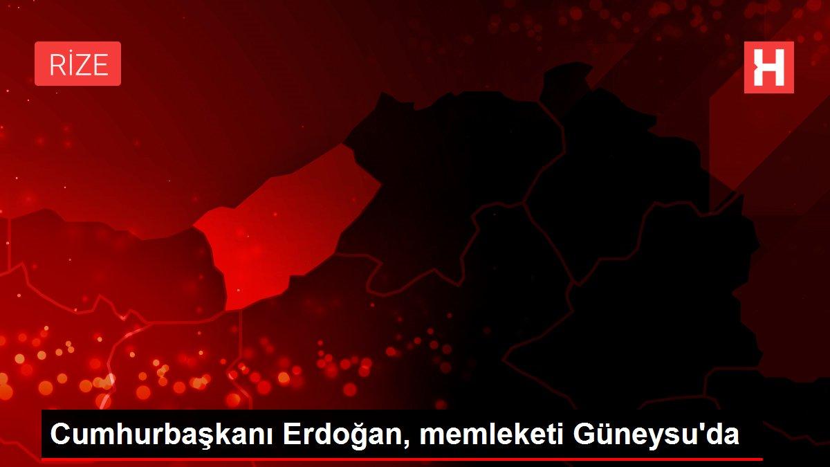 Cumhurbaşkanı Erdoğan, memleketi Güneysu'da