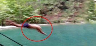 Doğal havuza atlayan talihsiz genç, başını taşa vurarak kısmı felç geçirdi