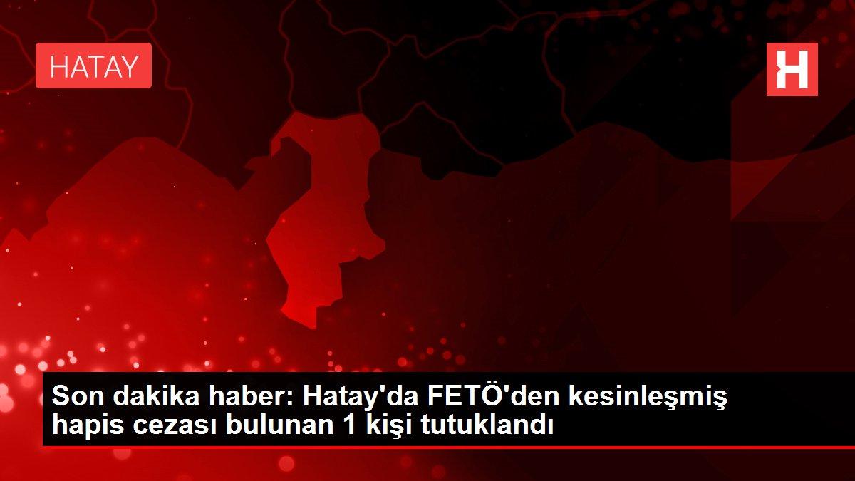 Son dakika haber: Hatay'da FETÖ'den kesinleşmiş hapis cezası bulunan 1 kişi tutuklandı