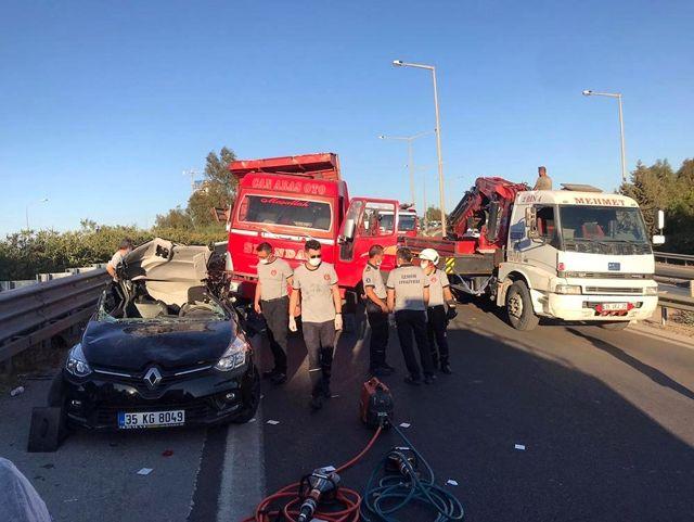 Son dakika haberleri! İzmir'de feci kaza: 1 ölü, 3 yaralı
