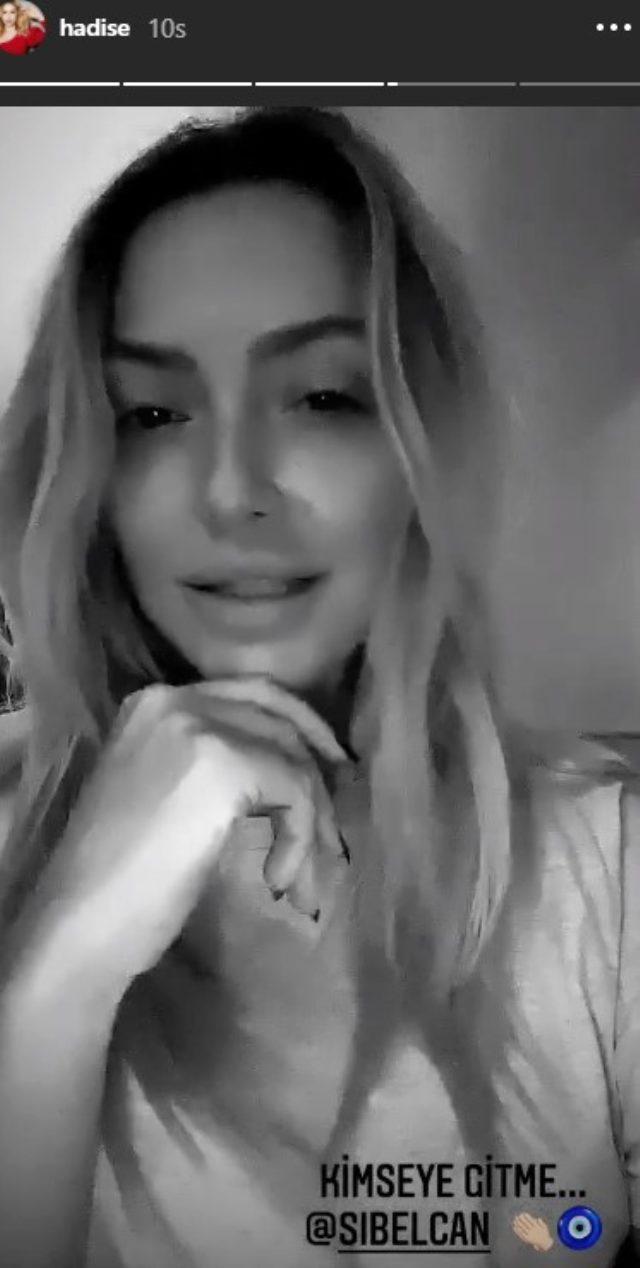 Aşka gelen Hadise, Sibel Can'ın yeni şarkısıyla sevgilisine gönderme yaptı