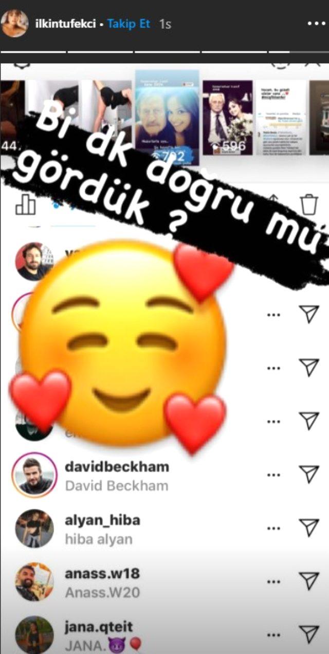 David Beckham, Türk oyuncu İlkin Tüfekçi'nin Instagram paylaşımını izledi