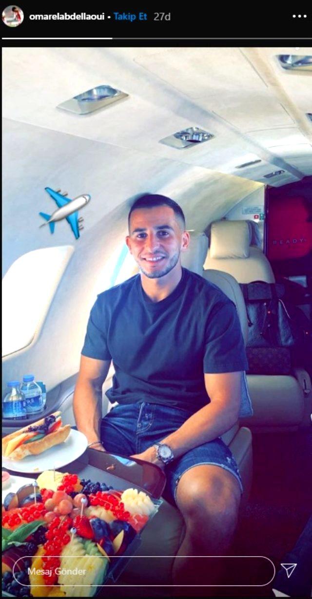 Omar Elabdellaoui, Türkiye - Yunanistan arasındaki uçuş yasağı nedeniyle özel uçakla İstanbul'a geldi