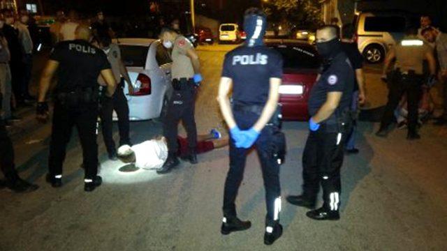 Şüpheliyi gözaltına almak isteyen polis ekibi taşlı saldırıya uğradı, bir polis yaralandı
