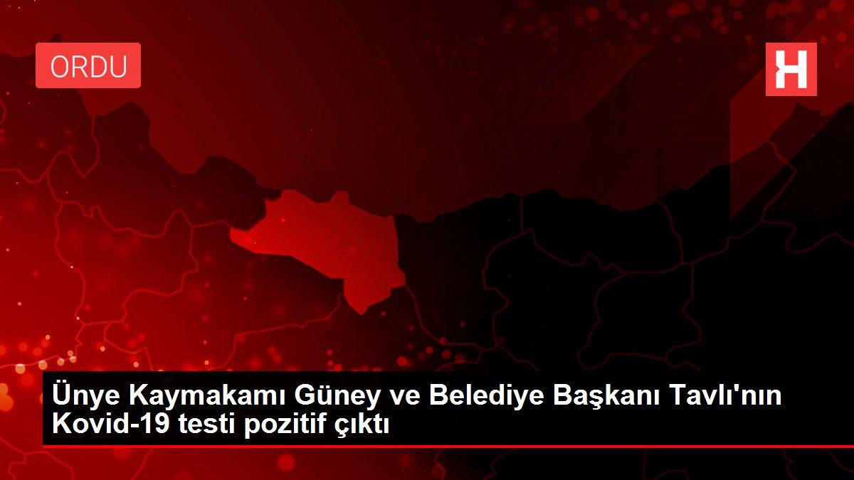 Son dakika haber... Ünye Kaymakamı Güney ve Belediye Başkanı Tavlı'nın Kovid-19 testi pozitif çıktı