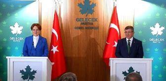 Gelecek Partisi: Akşener'den Davutoğlu'na 'hayırlı olsun' ziyareti