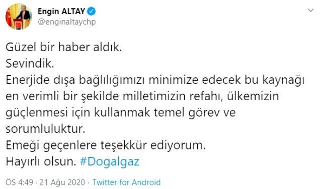 CHP Grup Başkanvekili Engin Altay'dan Erdoğan'ın müjdesine yorum: Güzel bir haber aldık