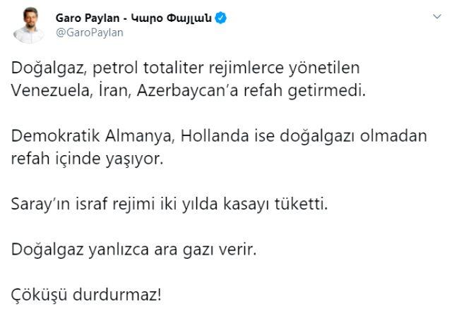 Cumhurbaşkanı Erdoğan'ın açıklayacağı müjde öncesi HDP'li Paylan: Yalnızca ara gazı verir