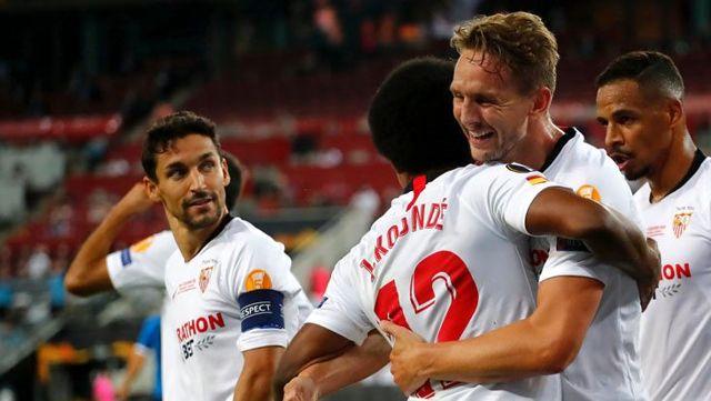 Son Dakika: Inter'i 3-2 mağlup eden Sevilla, UEFA Avrupa Ligi'nde 6. kez mutlu sona ulaştı