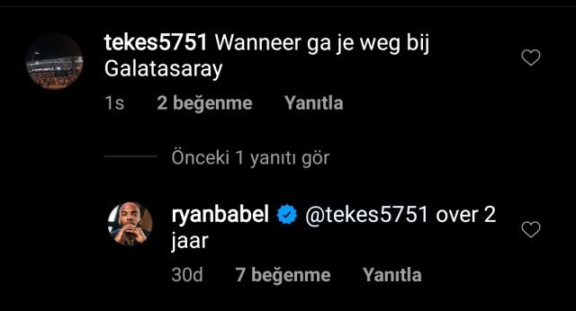 Galatasaraylı Ryan Babel, 2 yıl sonra Galatasaray'dan ayrılacağını söyledi