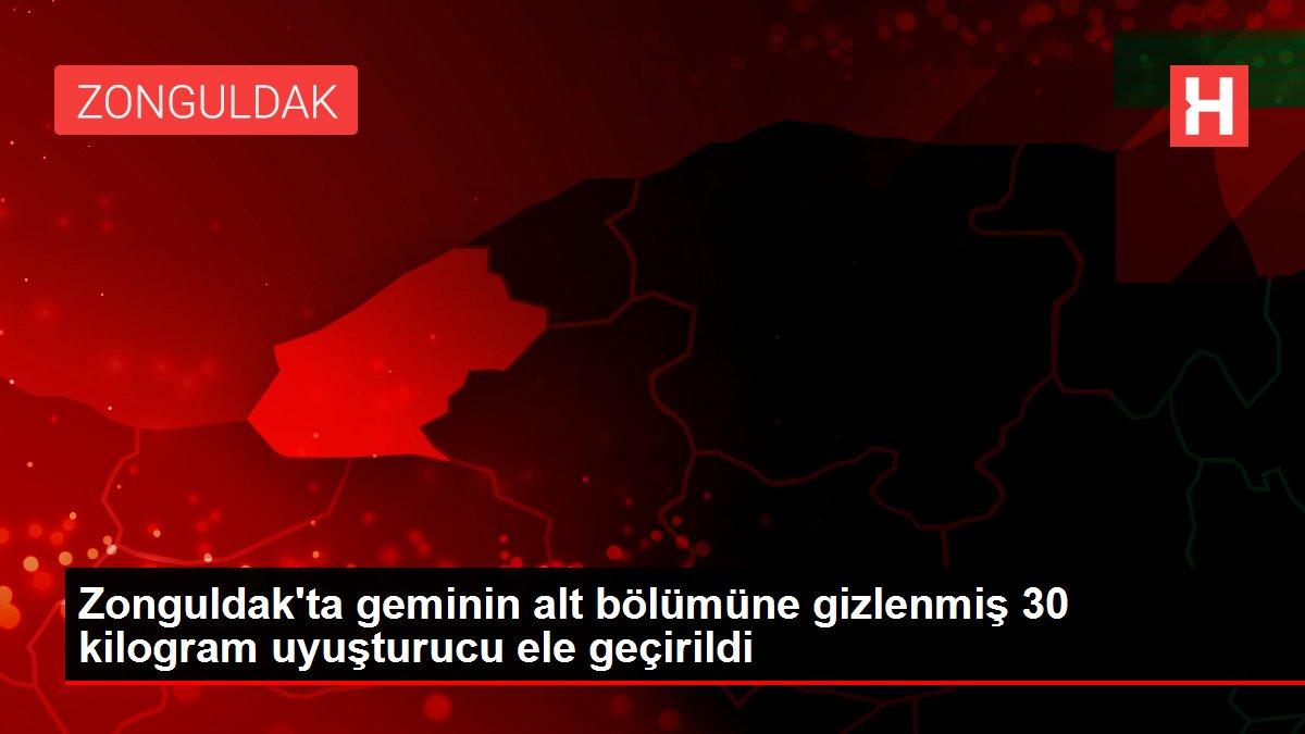 Son dakika haberleri! Zonguldak'ta geminin alt bölümüne gizlenmiş 30 kilogram uyuşturucu ele geçirildi