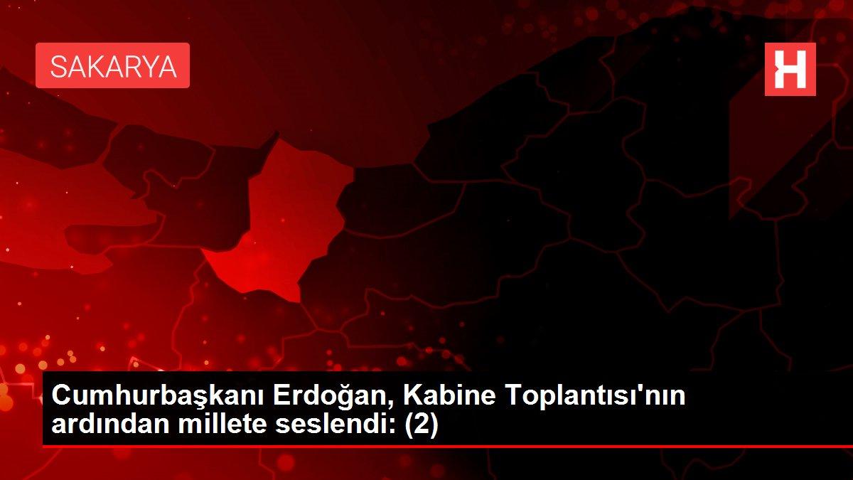 Cumhurbaşkanı Erdoğan, Kabine Toplantısı'nın ardından millete seslendi: (2)