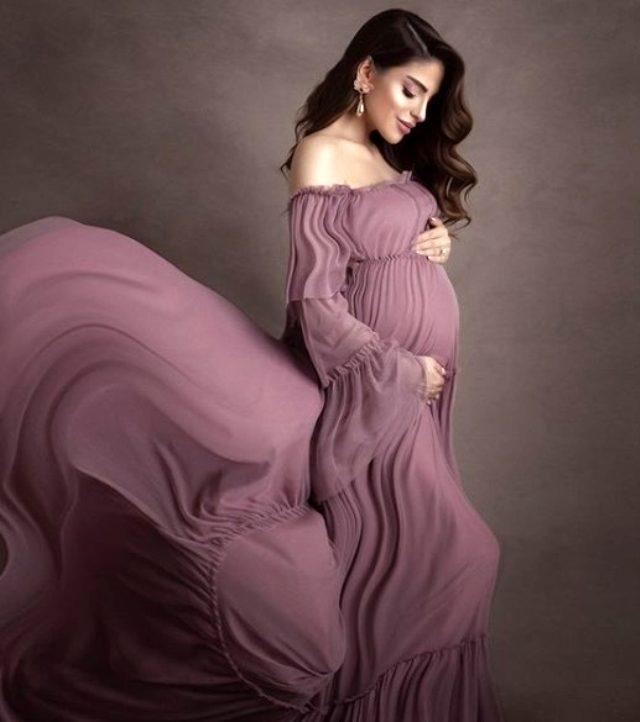 Ünlü sunucu Bircan Bali, ilk bebeğini kucağına aldı