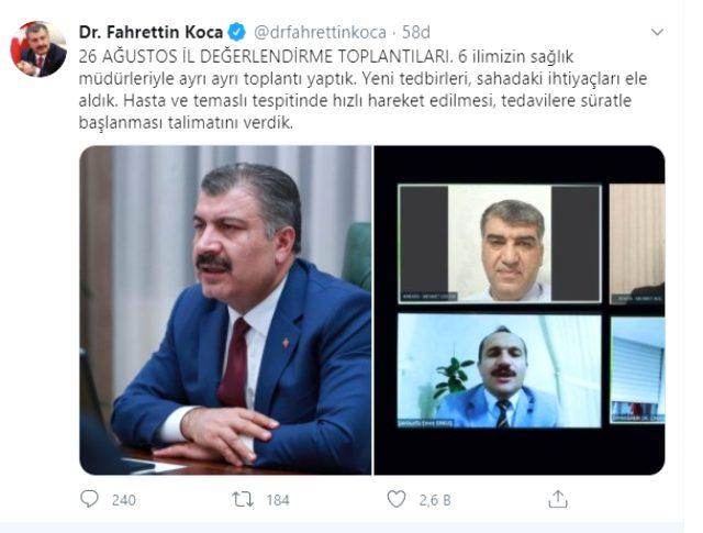 Sağlık Bakanı Fahrettin Koca'dan 6 kritik il için gece yarısı paylaşımı: Talimatı verdik
