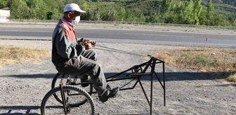 Recep Özen: 66 yaşındaki mucitten ilginç araç: Yarısı bisiklet, yarısı çekirge