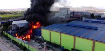 Bafra: Geri dönüşüm fabrikasında yangın