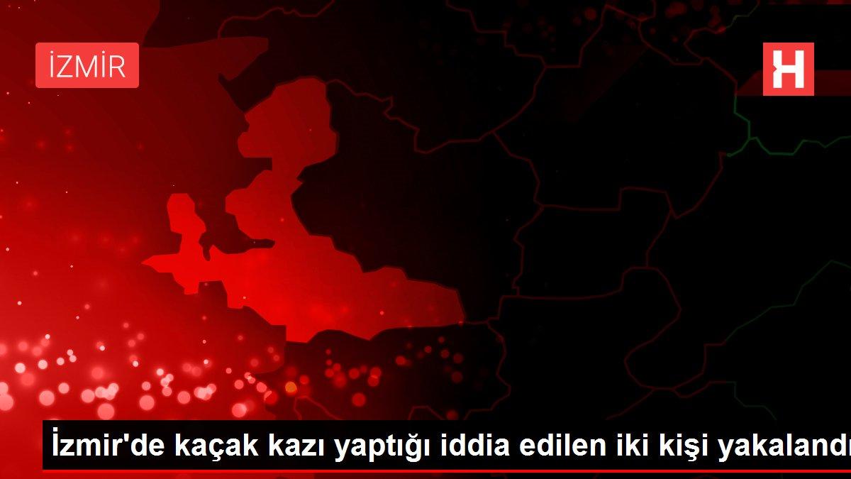 İzmir'de kaçak kazı yaptığı iddia edilen iki kişi yakalandı