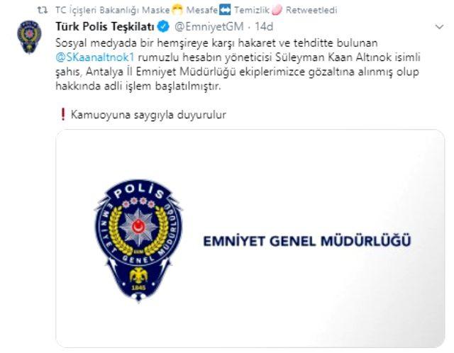 Son Dakika: Sosyal medyada Büşra hemşireyi tehdit eden Süleyman Kaan Altınok gözaltına alındı