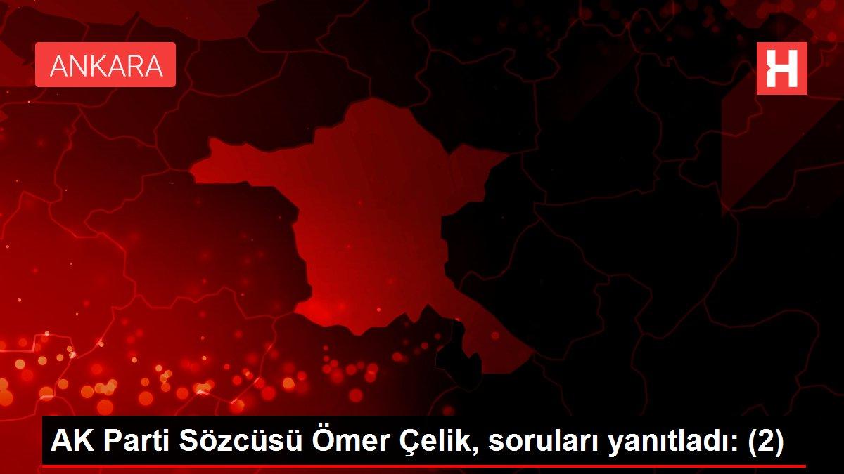 AK Parti Sözcüsü Ömer Çelik, soruları yanıtladı: (2)
