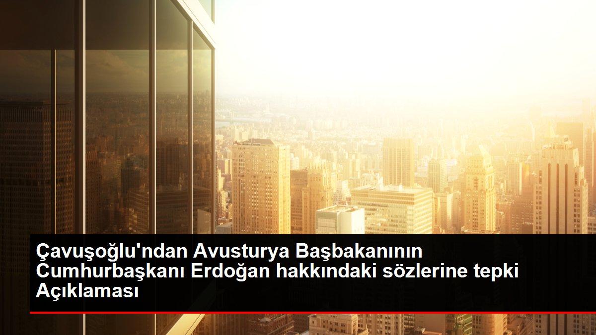 Çavuşoğlu'ndan Avusturya Başbakanının Cumhurbaşkanı Erdoğan hakkındaki sözlerine tepki Açıklaması