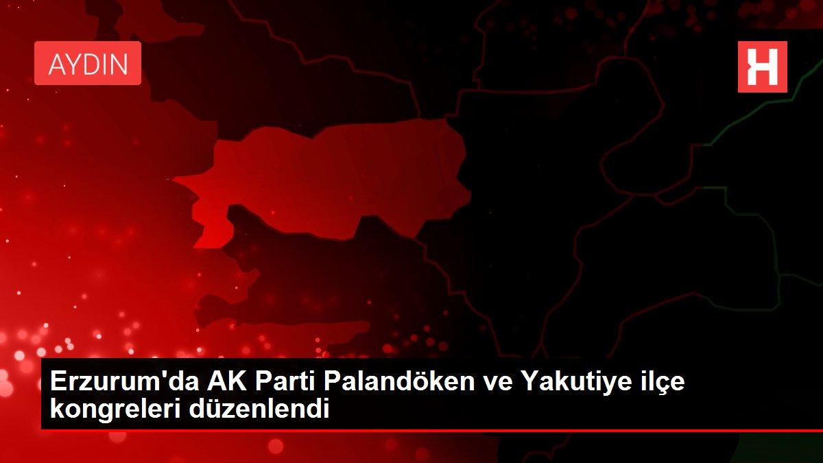 Erzurum'da AK Parti Palandöken ve Yakutiye ilçe kongreleri düzenlendi