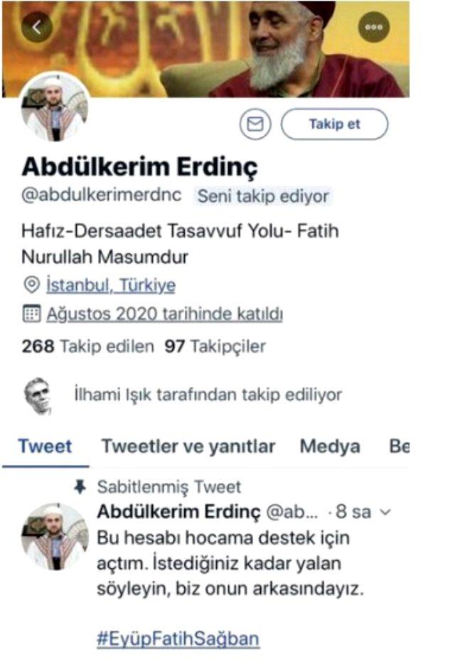 Müridi olduğunu belirten bir kişi, istismardan tutuklanan sözde tarikat şeyhine sosyal medyada destek veriyor
