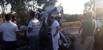 Beton Mikseri: Otoyoldaki zincirleme trafik kazasında 2 kişi yaralandı