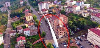 Akkuş: Boyu 65 metre, ağırlığı 18 ton! Türbin kanadı koca koca binaların arasından böyle taşındı