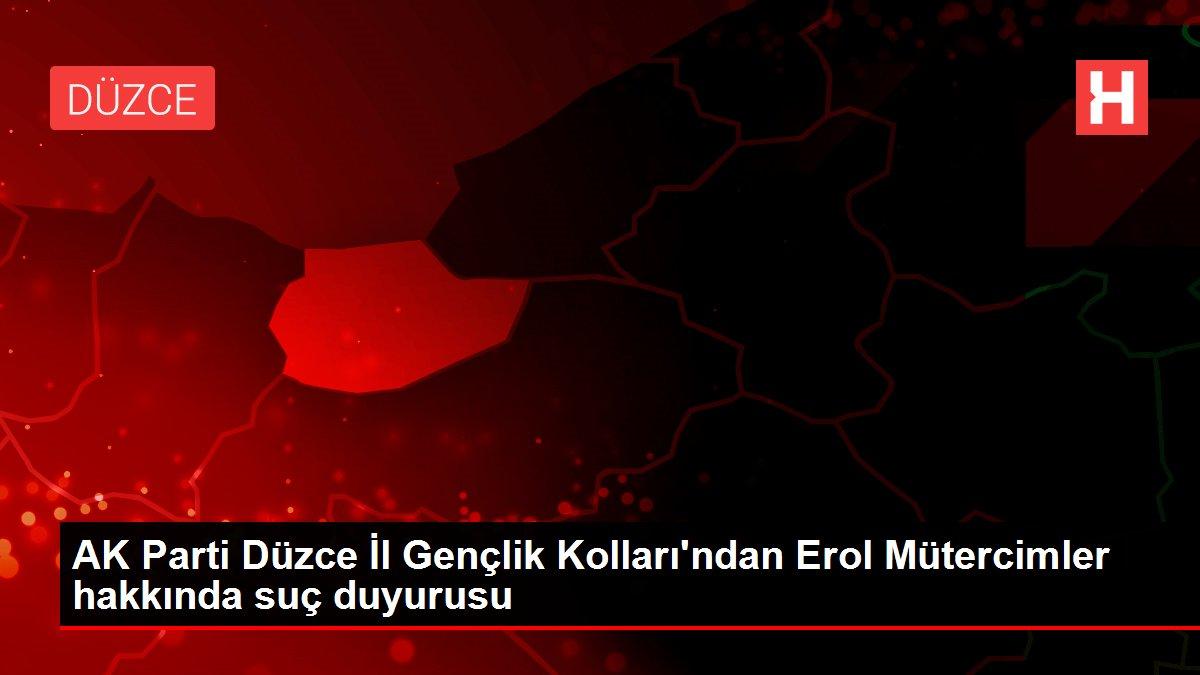 AK Parti Düzce İl Gençlik Kolları'ndan Erol Mütercimler hakkında suç duyurusu