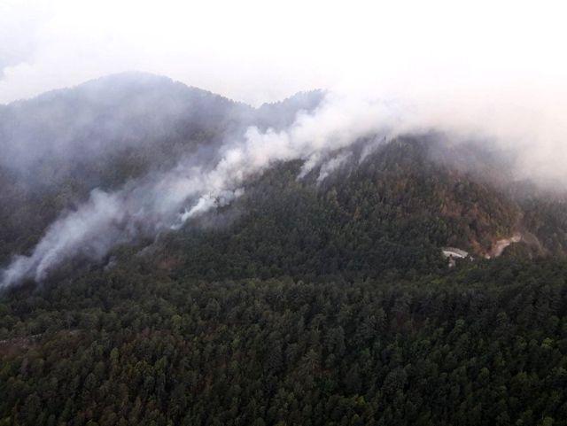 Son dakika haberleri   Osmaniye'deki orman yangınını söndürme çalışmaları devam ediyor