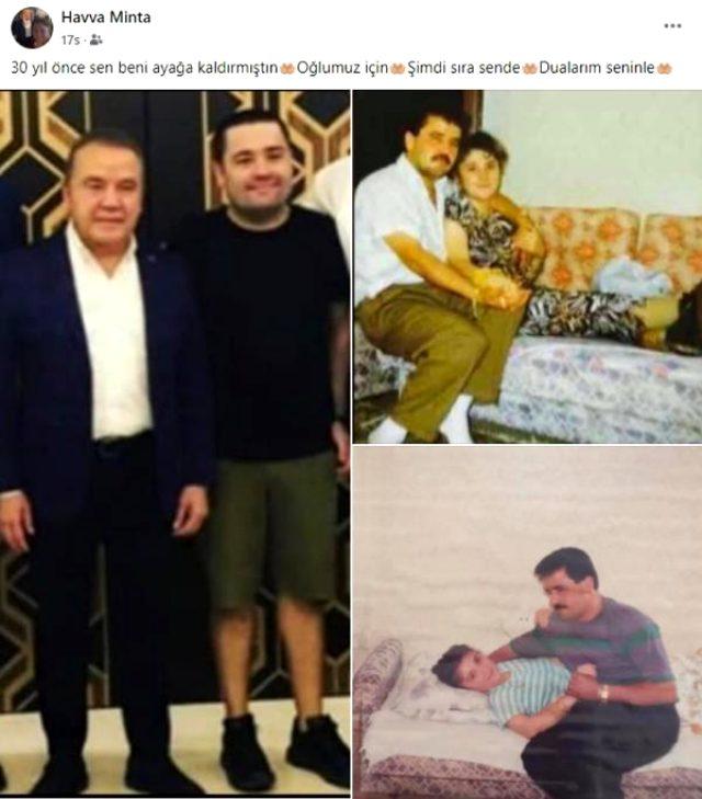 Koronaya yakalanan Başkan Böcek'in eski eşinden duygusal paylaşım: 30 yıl önce sen beni ayağa kaldırdın, şimdi sıra sende