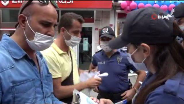 Maske takmayan vatandaştan ceza kesen polislere tepki: Senin ismini öğreneceğim ben