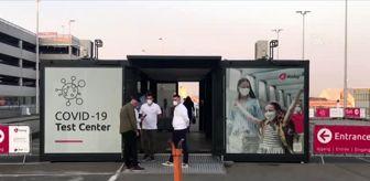 Brüksel Havalimanı: Son dakika... Brüksel Havalimanına Kovid-19 test merkezi açıldı
