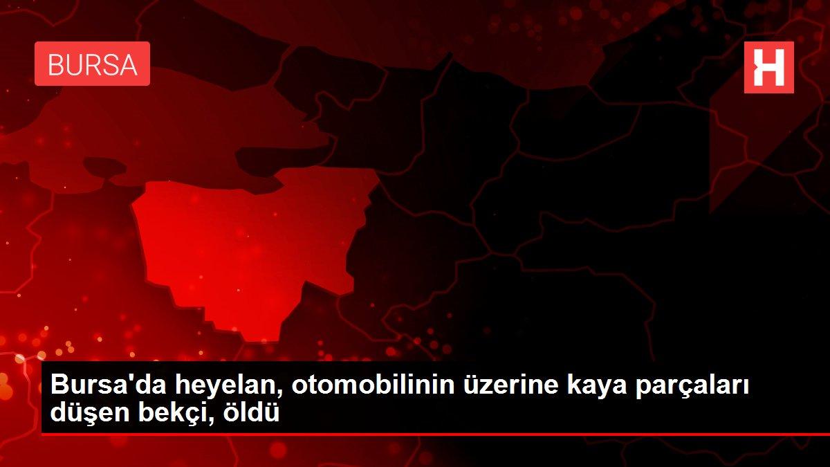 Bursa'da heyelan, otomobilinin üzerine kaya parçaları düşen bekçi, öldü