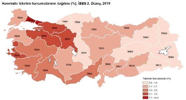 Harcamalar: İstanbul kirada birinci, gıdada sonuncu