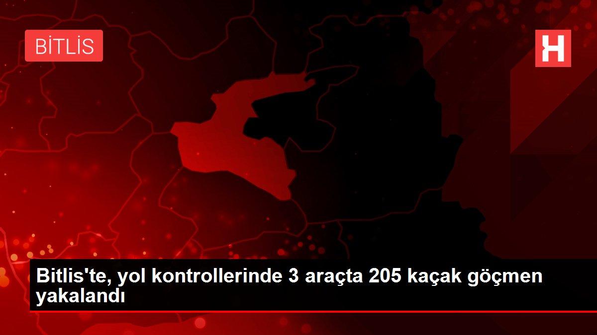 Bitlis'te, yol kontrollerinde 3 araçta 205 kaçak göçmen yakalandı