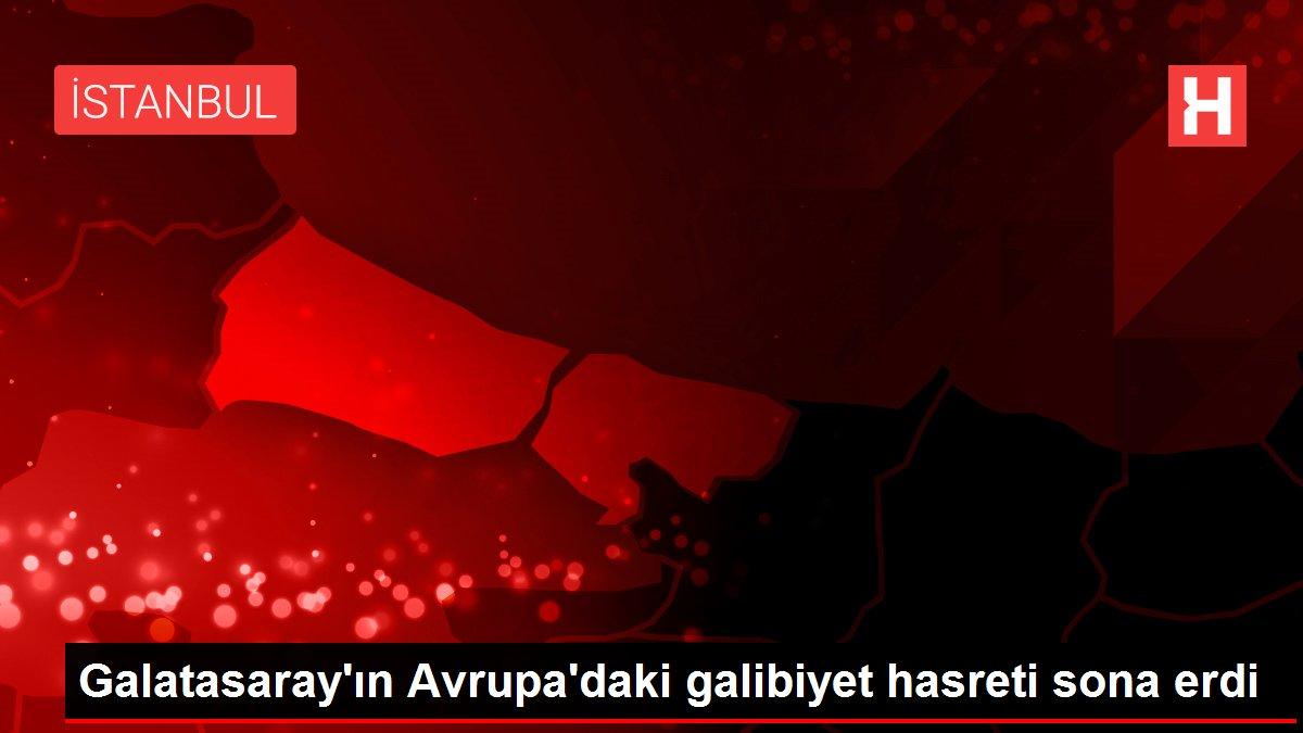 Galatasaray'ın Avrupa'daki galibiyet hasreti sona erdi