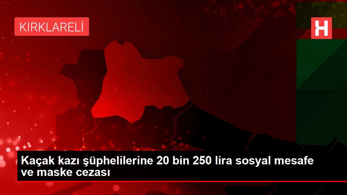 Kaçak kazı şüphelilerine 20 bin 250 lira sosyal mesafe ve maske cezası