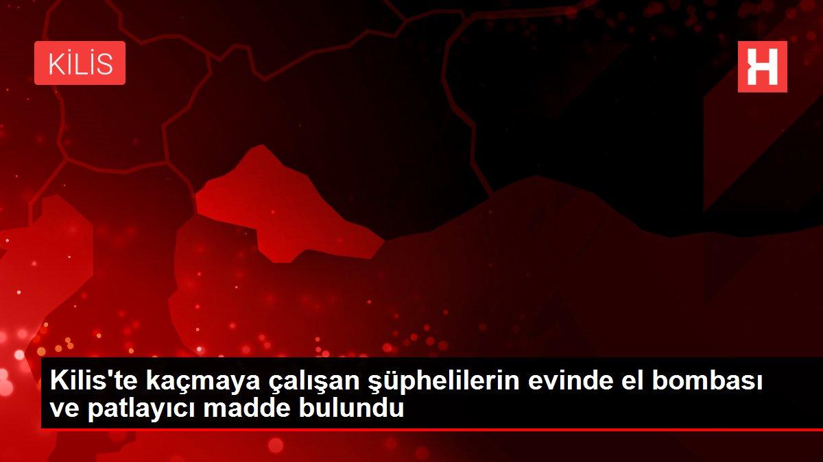 Son dakika haber! Kilis'te kaçmaya çalışan şüphelilerin evinde el bombası ve patlayıcı madde bulundu