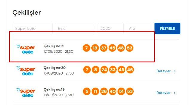 Süper Loto bilet sorgulama! Süper Loto çekiliş sonuçları: 17 Eylül Milli Piyango Online Süper Loto sonuçları açıklandı mı?
