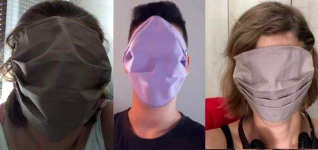Yunanistan'da ücretsiz dağıtılan maskeler, büyüklüğü sebebiyle dalga konusu oldu