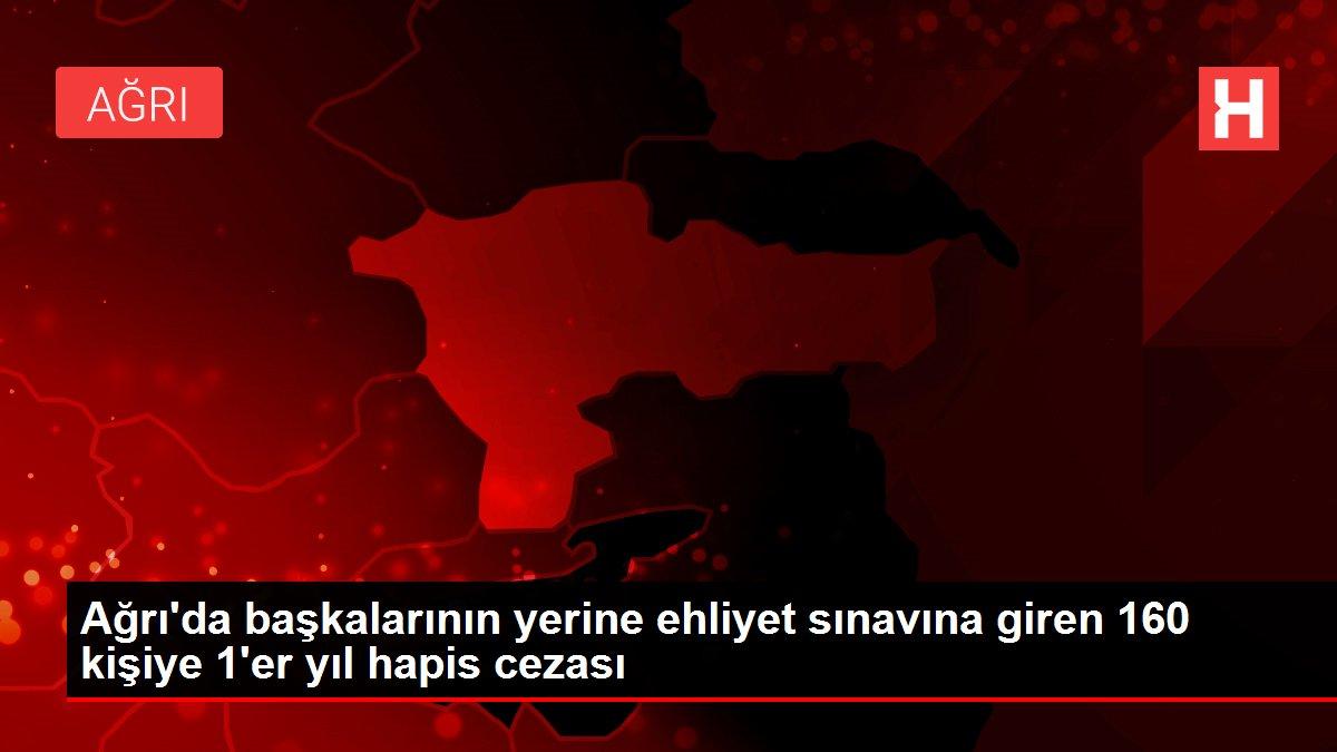 Ağrı'da başkalarının yerine ehliyet sınavına giren 160 kişiye 1'er yıl hapis cezası