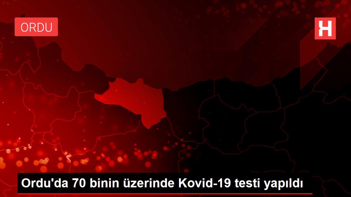 Son Dakika: Ordu'da 70 binin üzerinde Kovid-19 testi yapıldı