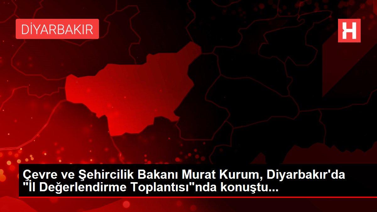 Son dakika haberi! Çevre ve Şehircilik Bakanı Murat Kurum, Diyarbakır'da