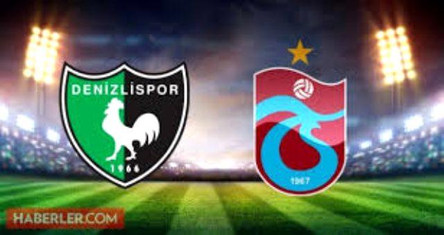 Denizlispor-Trabzonspor maçı kaç kaç? Denizlispor-Trabzonspor maçı sonrası neler oldu? Denizlispor-Trabzonspor maçında kimler gol attı?