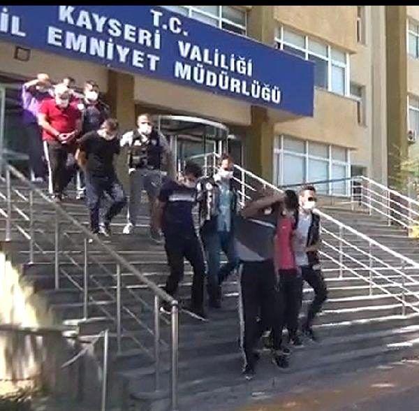 Kayseri'de uyuşturucuya 9 tutuklama